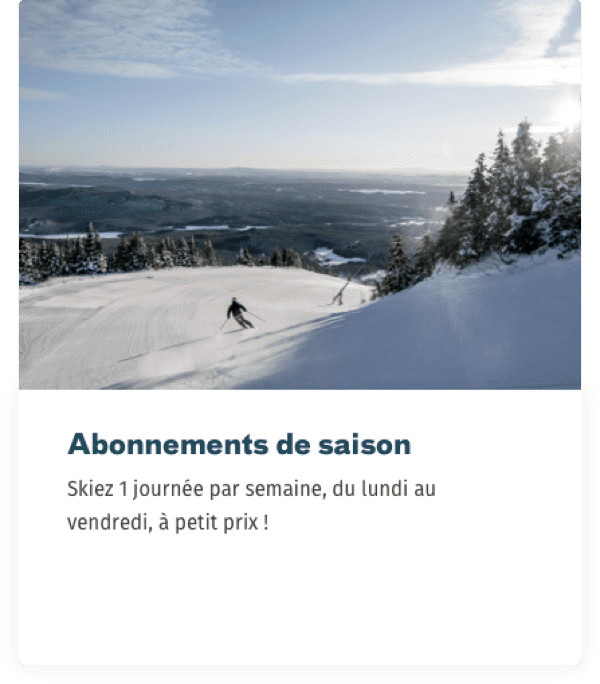 Website Mont-Orford abonnement