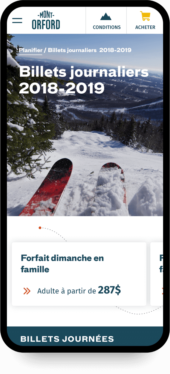 Website Mont-Orford version mobile 6